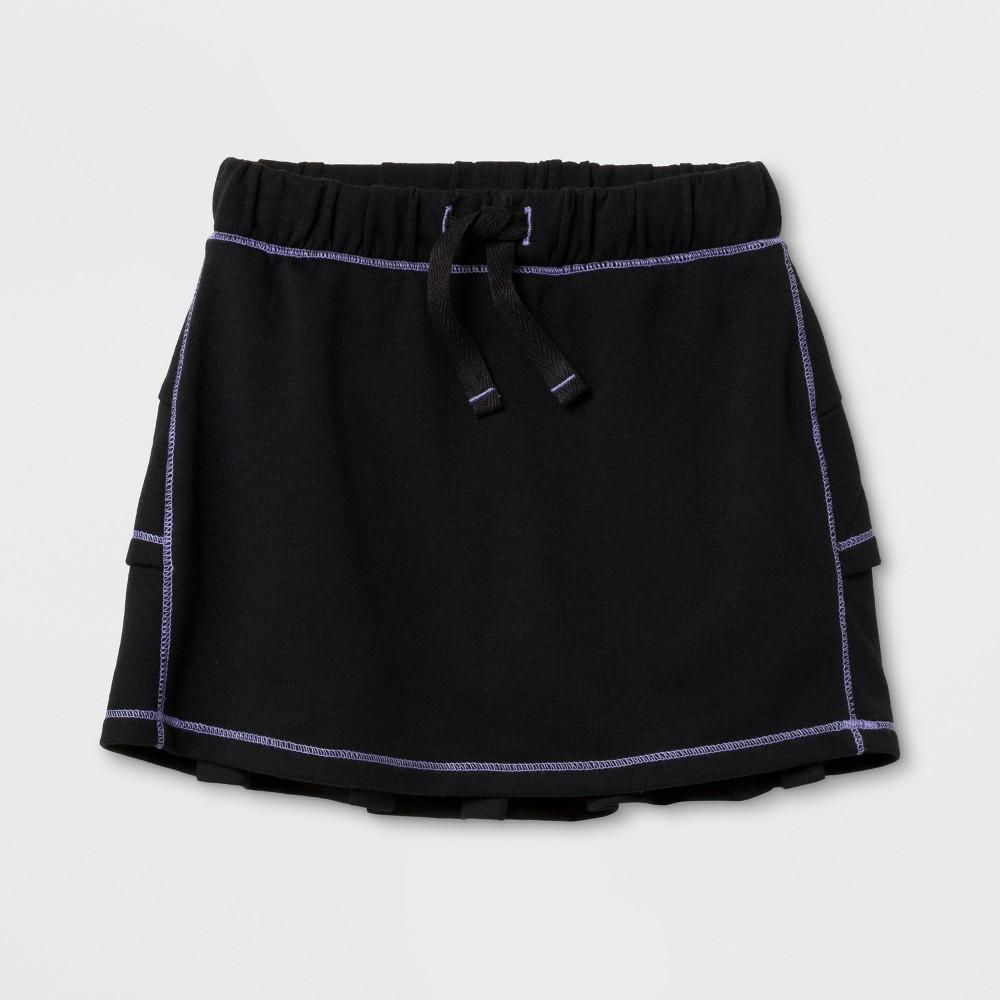 Toddler Girls Activewear Skorts - Cat & Jack Black 12M, Size: 12 M