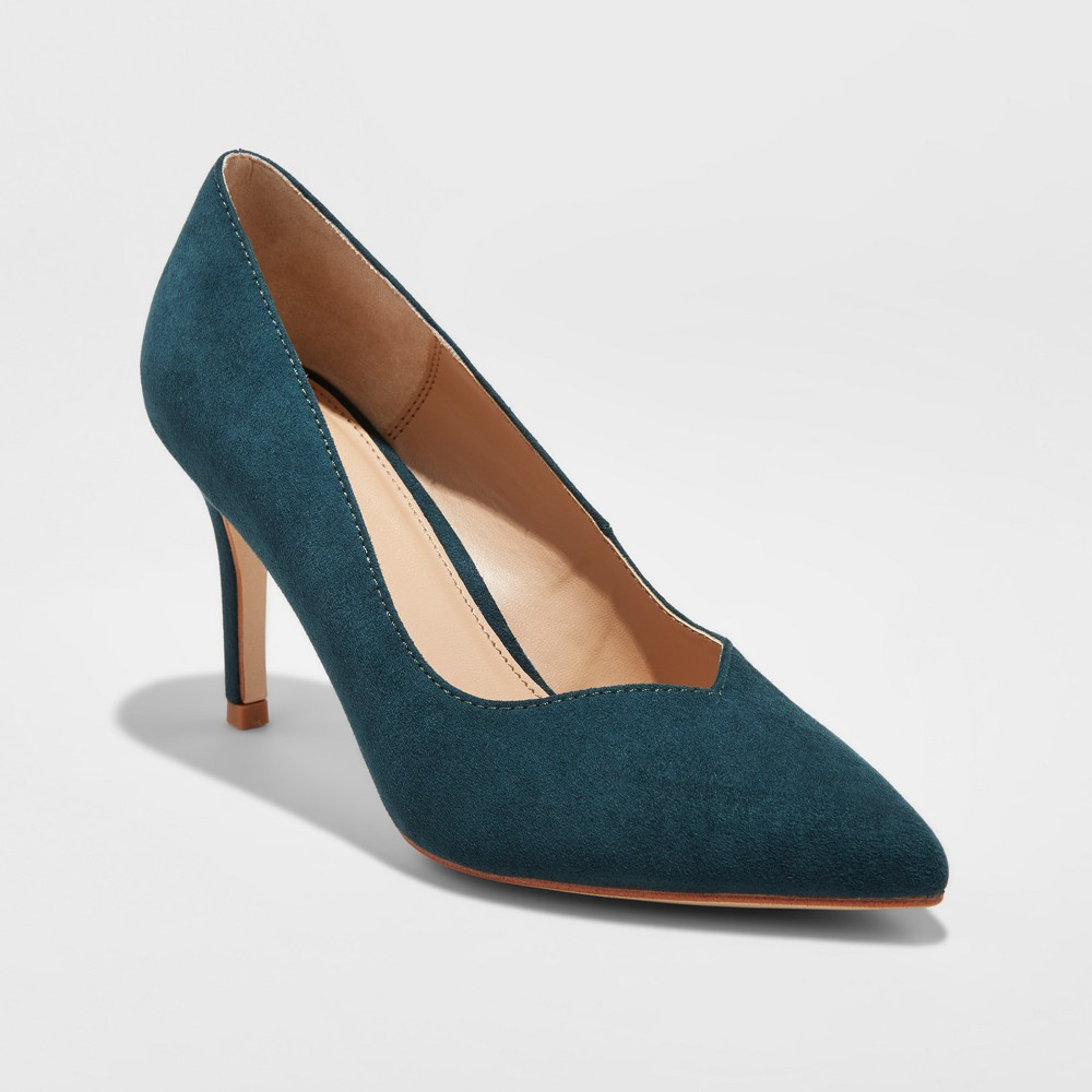 Womens Courtney Sweetheart Topline Heel Pumps - A New Day Blue 7