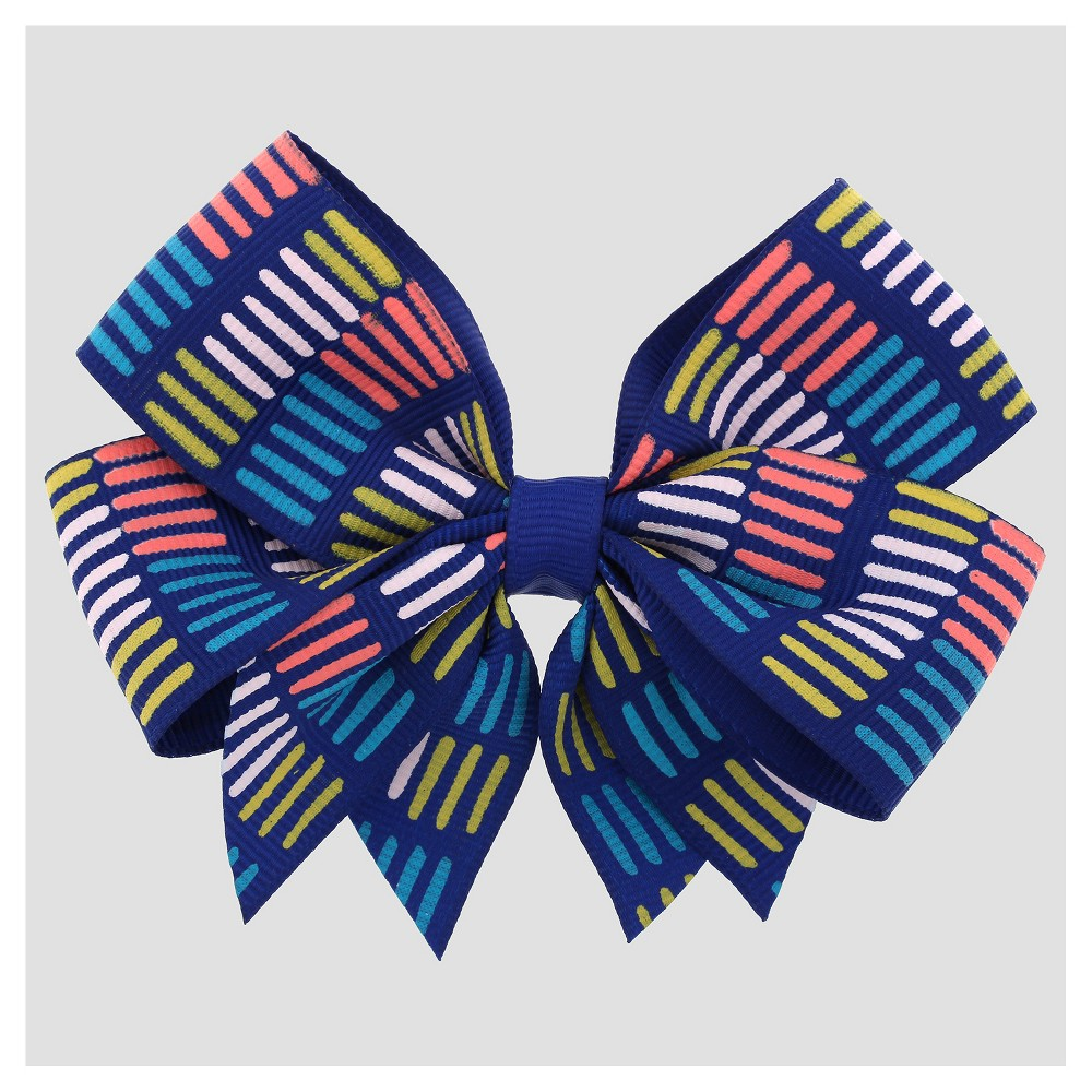 Girls' Colored Lines Bow Hair Clip Cat & Jack Blue