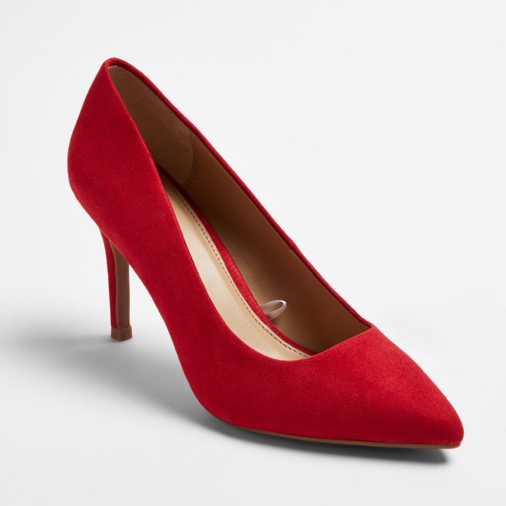Womens Gemma Pointed Toe Pumps - A New Day Red 8.5