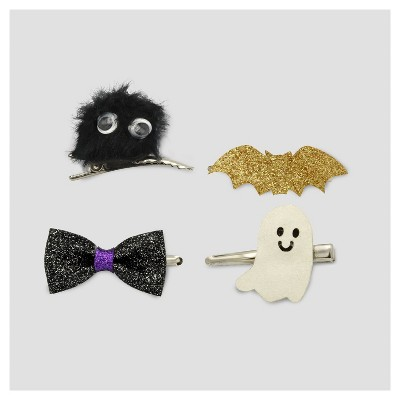 Girls' 4pk Halloween Mix Hair Clip Set - Cat & Jack™ Multi-Colored