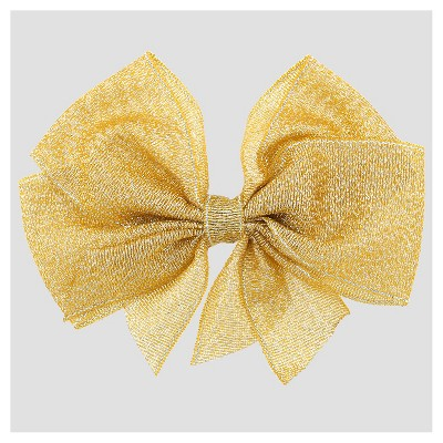 Girls' Metallic Bow Hair Clip Cat & Jack™ Gold