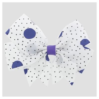 Girls Mix Dot Print Ribbon Bow Hair Clip Cat & Jack™ Purple