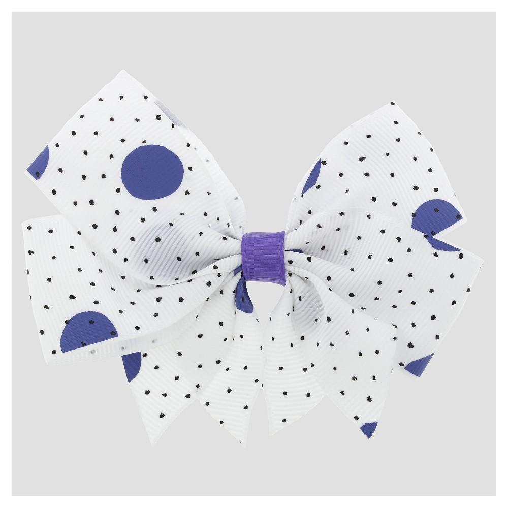 Girls Mix Dot Print Ribbon Bow Hair Clip Cat & Jack Purple