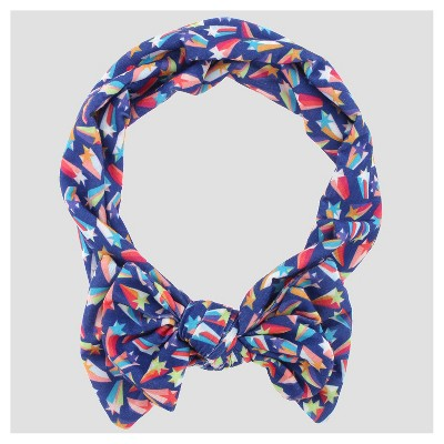 Girls' Jersey Shooting Star Print Head Wrap - Cat & Jack™ Blue