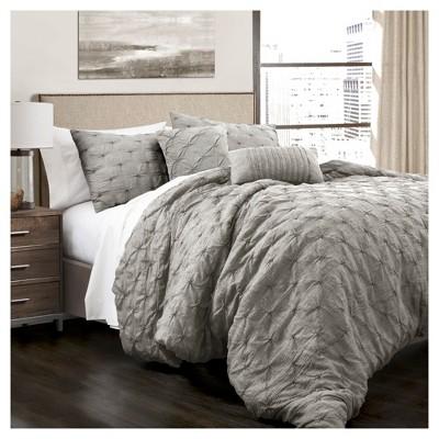 ravello pintuck comforter set 5pc lush decor