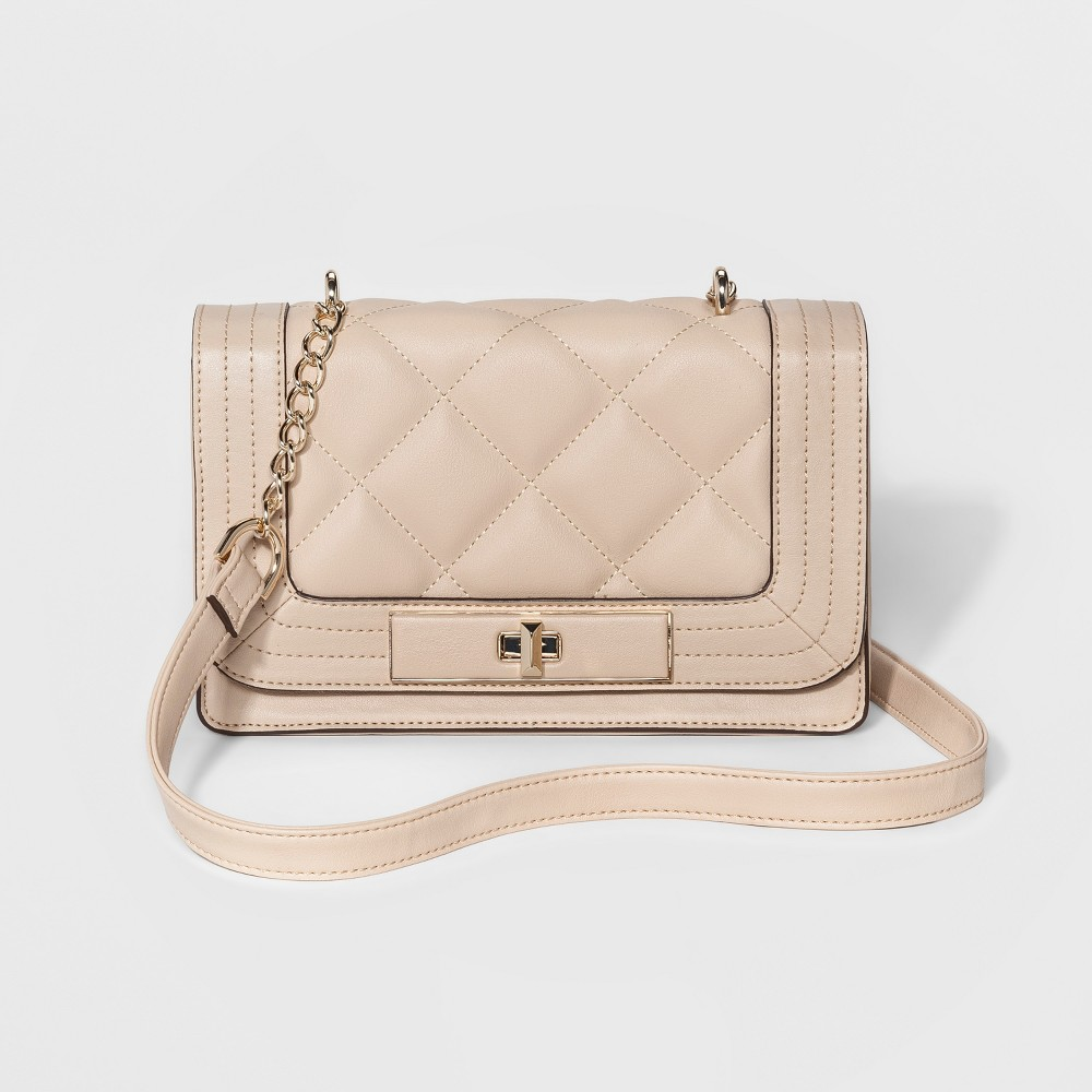 Womens Quilted Crossbody Bags - Mossimo Tan