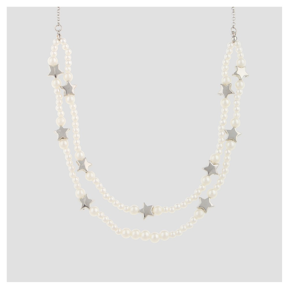 Girls Pearls and Stars Statement Necklace - Cat & Jack Navy