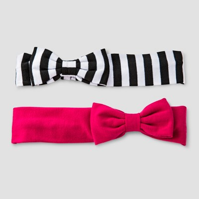 Girls' 2pk Solid and Strip Headwrap Set - Cat & Jack™ Multi-Colored