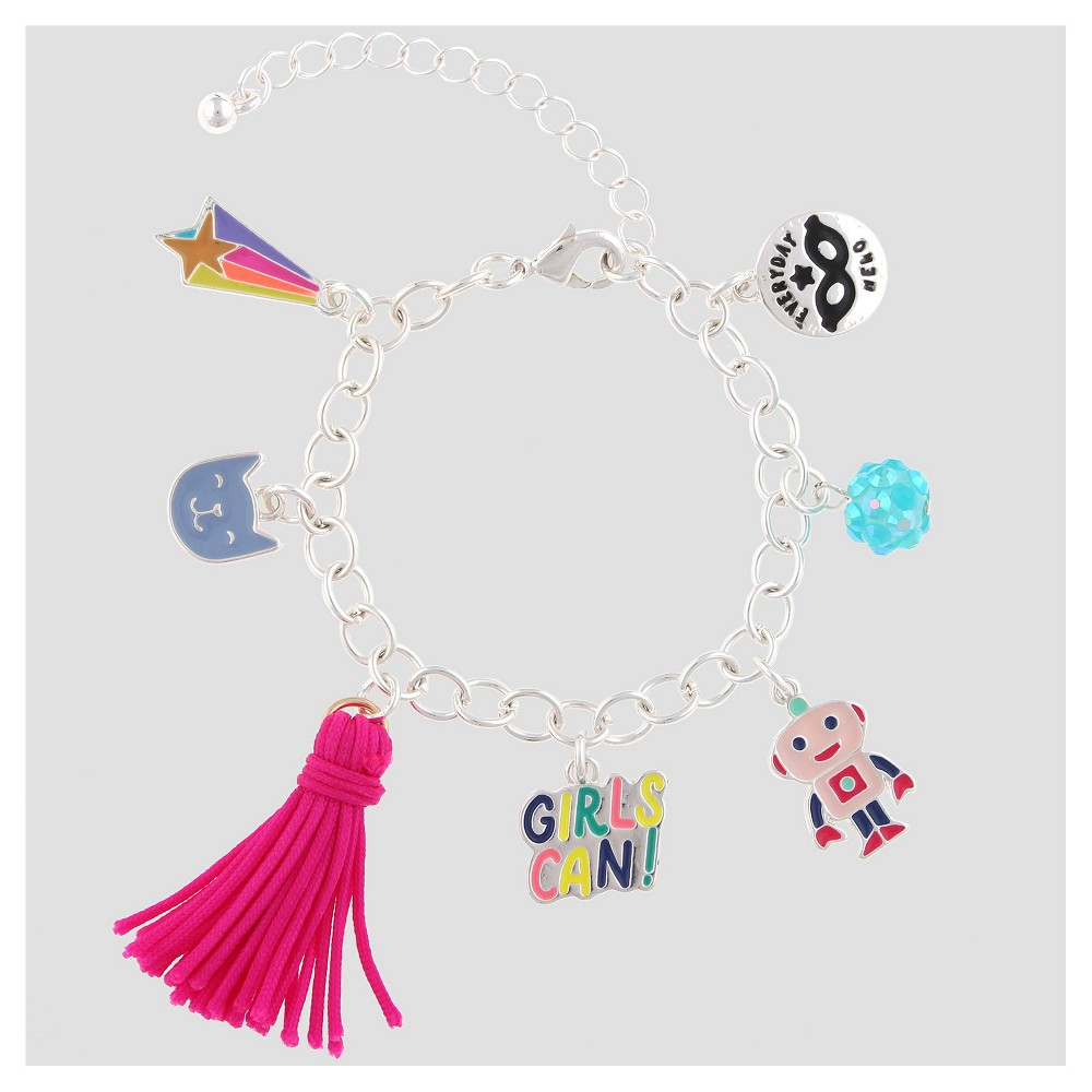 Girls Charm Girls Can! Bracelet - Cat & Jack, Multi-Colored
