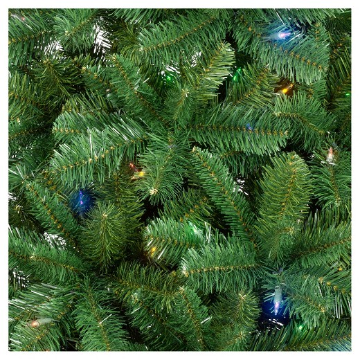 philips 7ft prelit full artificial christmas tree alberta spruce bicolor led lights - White Spruce Christmas Tree