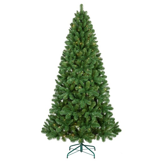 philips 7ft prelit full artificial christmas tree alberta spruce bicolor led lights - 6 Christmas Tree