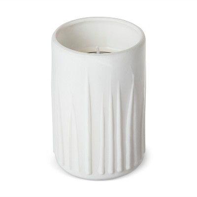 Ridged Candle White - Amber - 7oz - Archaeology
