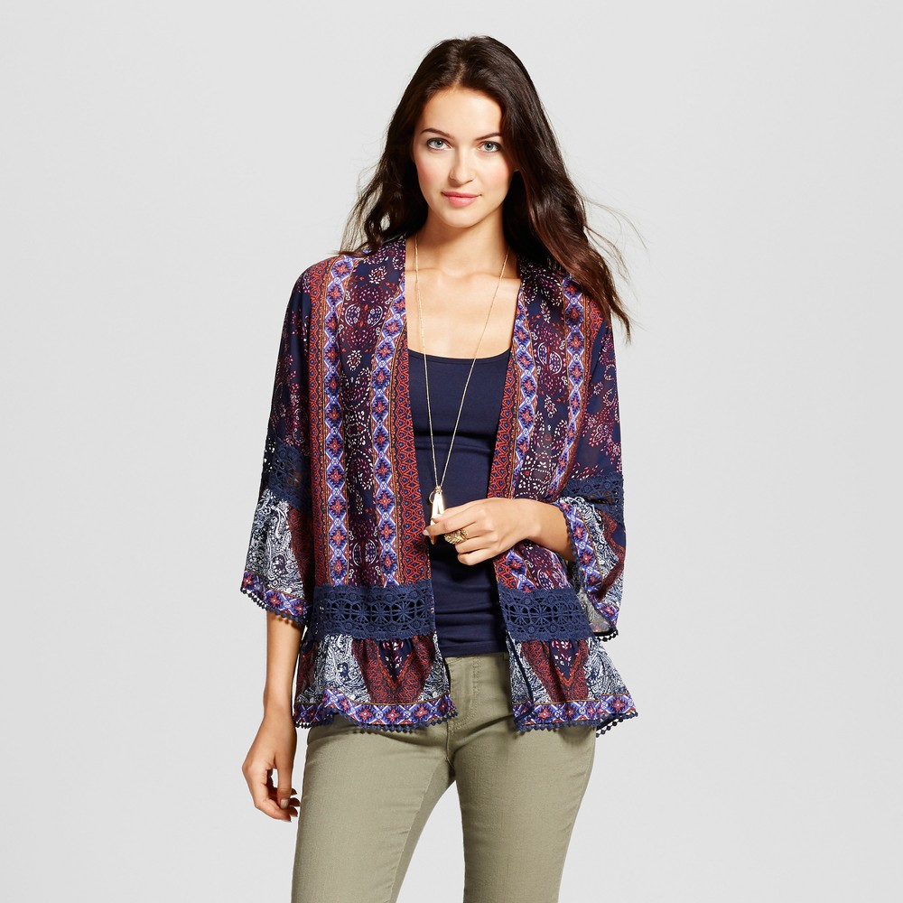 Womens Printed Woven Jacket with - Knox Rose XS, Multicolored