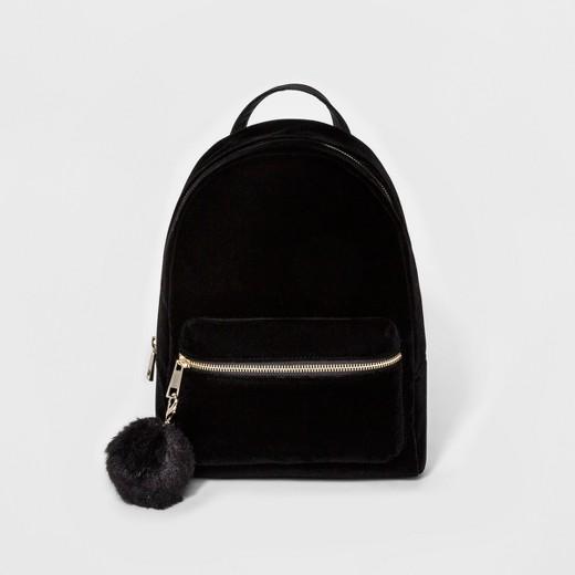 Women's Velvet Backpack Handbags - Mossimo™ Black : Target