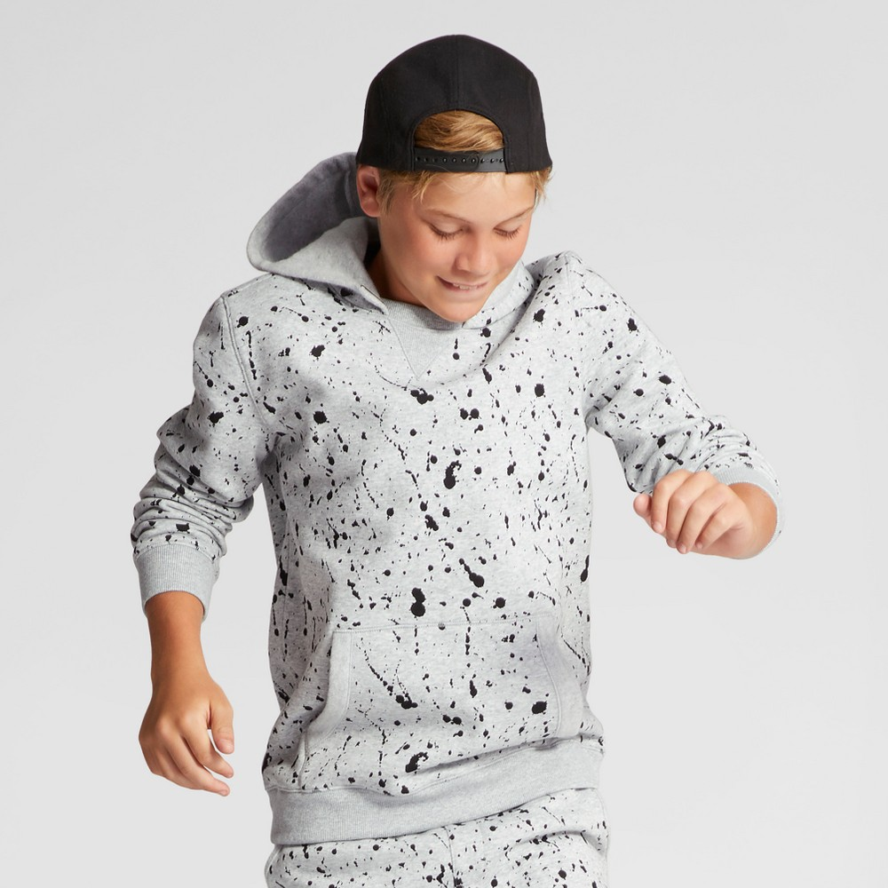 Boys Splatter Sweatshirt - Art Class Gray S
