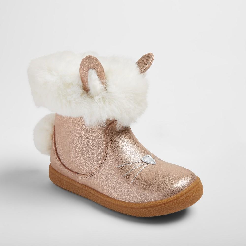 Toddler Girls Heidi Bunny Fashion Boots 10 - Cat & Jack - Gold