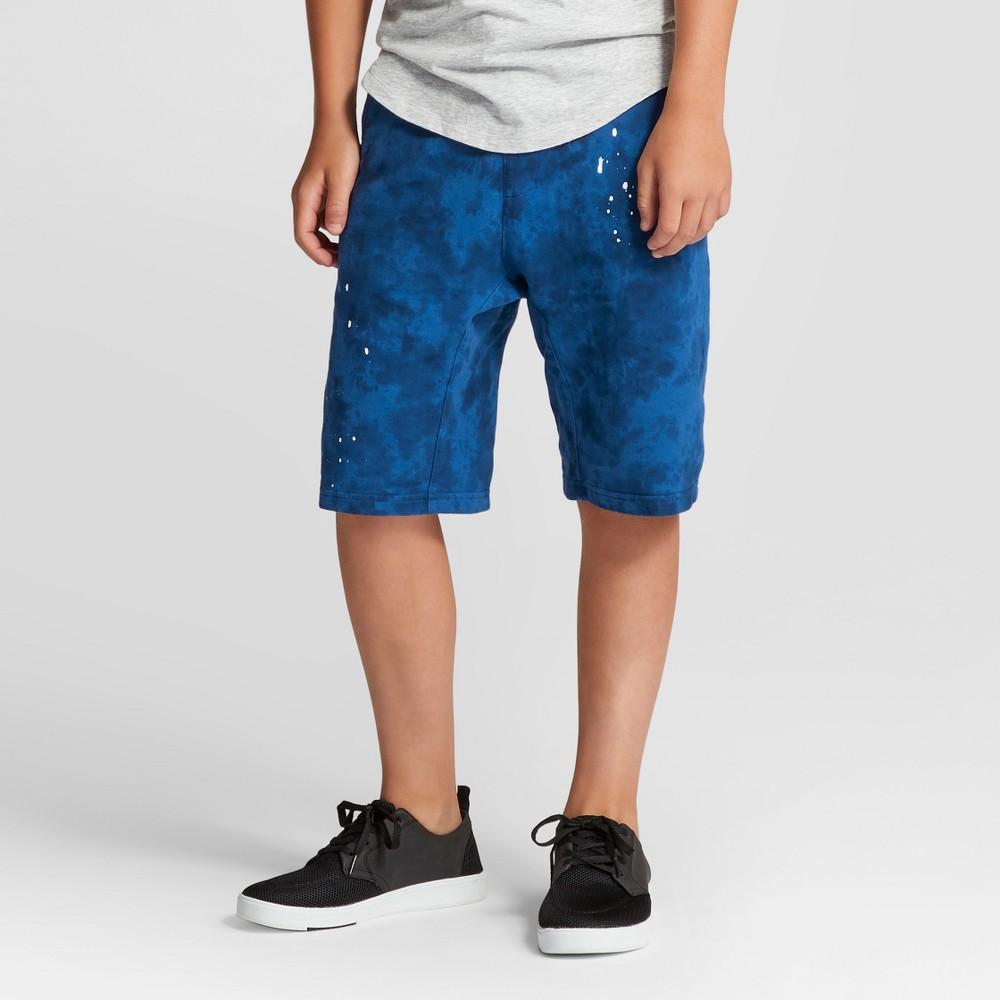 Boys Harem Knit Jogger Shorts - Art Class True Blue L