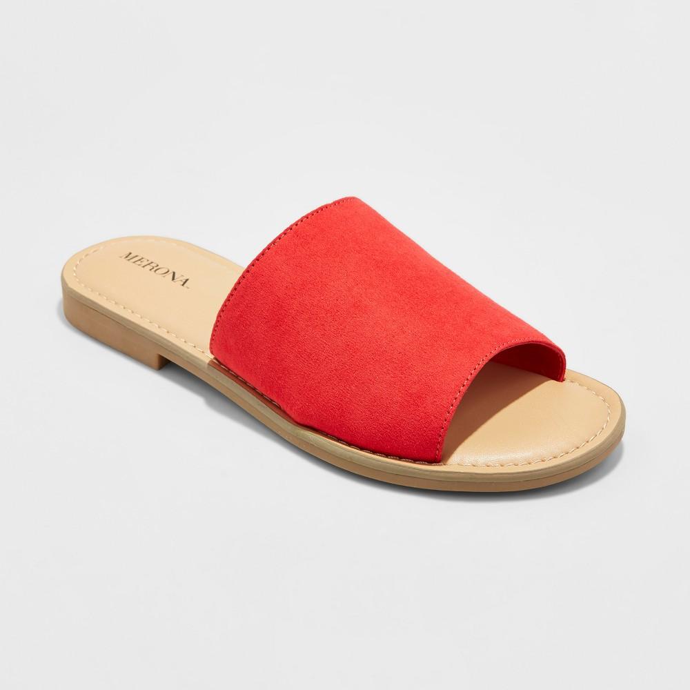 Womens Mardi Slide Sandals - Merona Red 9.5