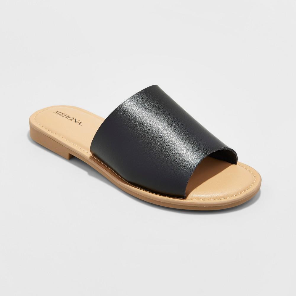 Womens Mardi Slide Sandals Merona Black 5.5