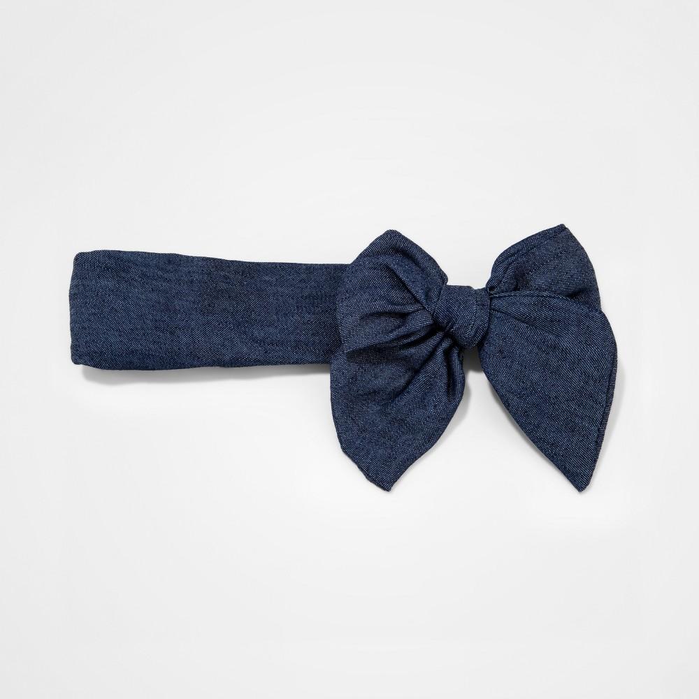 Girls Bow Headwrap - Cat & Jack Blue
