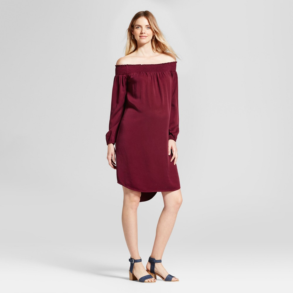 Maternity Off the Shoulder Dress - Isabel Maternity by Ingrid & Isabel Boysenberry Red M, Womens
