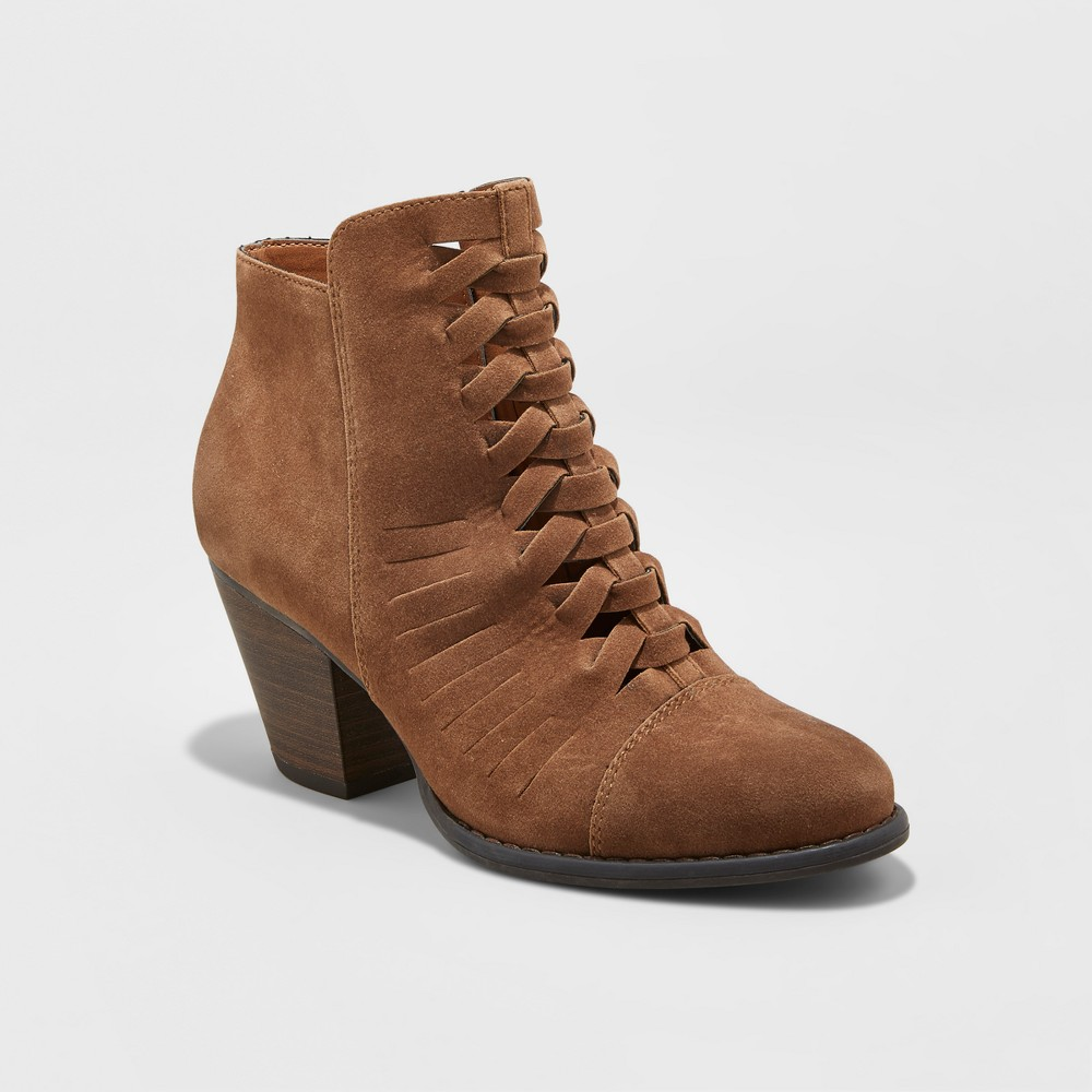Womens Booties - Mossimo Supply Co. Aubree Cognac (Red) 9.5