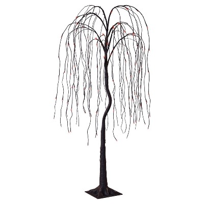 Philips® 6' Halloween Pre-Lit Artificial Willow Tree - Orange Cascading LED Lights