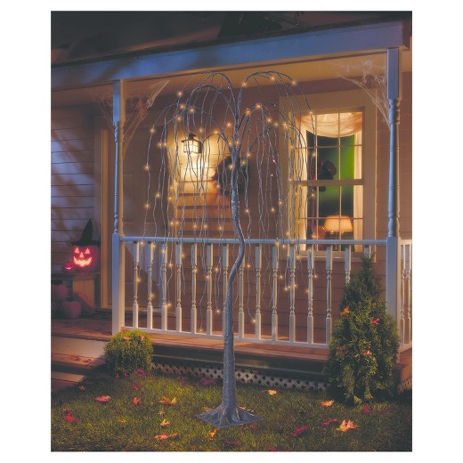 Philips® 6' Halloween Pre-Lit Artificial Willow Tree - Orange Cascading LED  Lights - Philips® 6' Halloween Pre-Lit Artificial Willow Tree - Orange