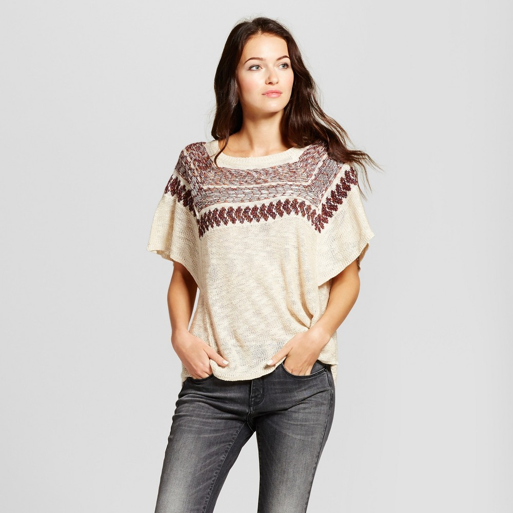 Womens Flutter Sleeve Sweater - Knox Rose Cream S, White
