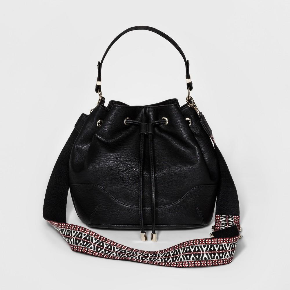 A+ Womens Bucket Handbag -Black, Black