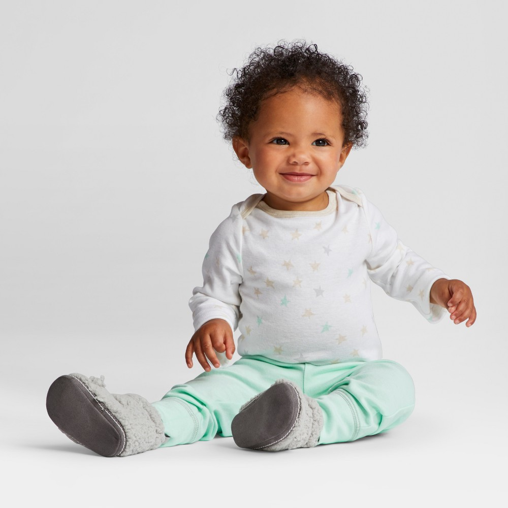 Baby 3pk Pants Cloud Island - Mint/Gray 6-9M, Infant Unisex, Green