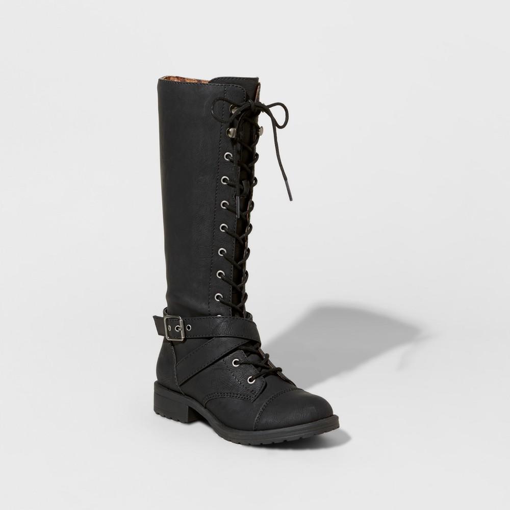 Girls Stevies #hikingg Laceup Tall Fashion Boots - Black 3