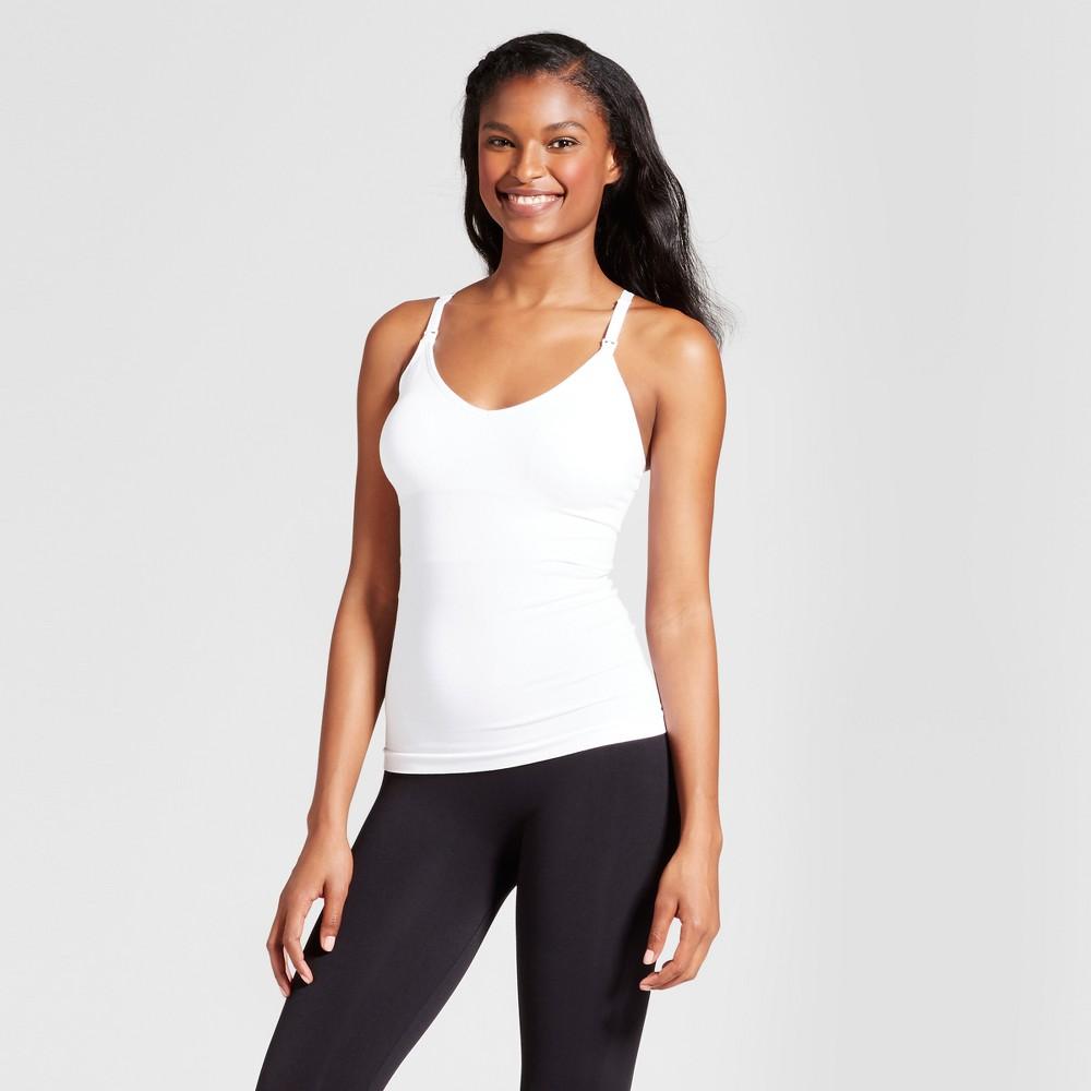 Womens Nursing T-Back Cami - White XL