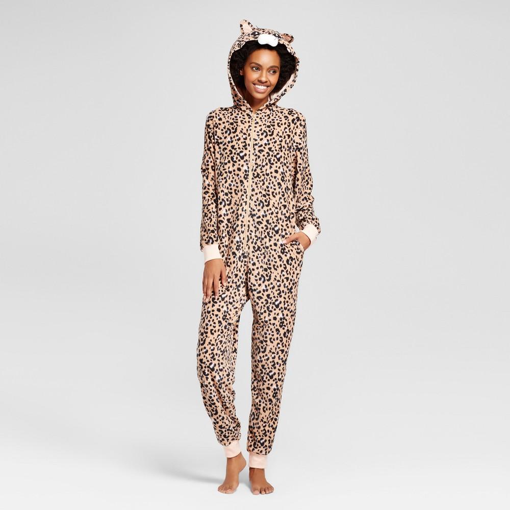 Womens Leopard Union Suit - Xhilaration Beige L, Orange