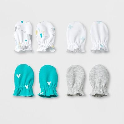 Baby Boys' 4pk Mitten Set Cloud Island™ - Blue
