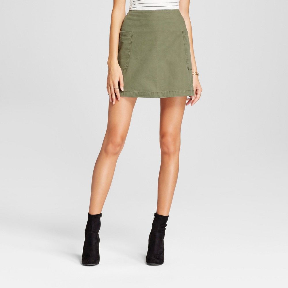 Womens Casual Skirt - A New Day Olive 14, Green