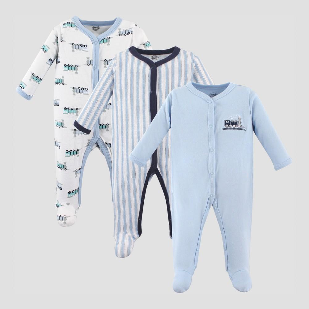 Luvable Friends Baby Boys 3pk Train Sleep and Play Set - Blue 6-9M, Size: 6-9 M