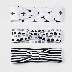 Baby Girls' 3pk Headband Set Cloud Island™ - Black/White