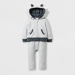 Baby Boys' 2pc Wolf Hooded Sweatshirt and Jogger Set - Cat & Jack™ Gray