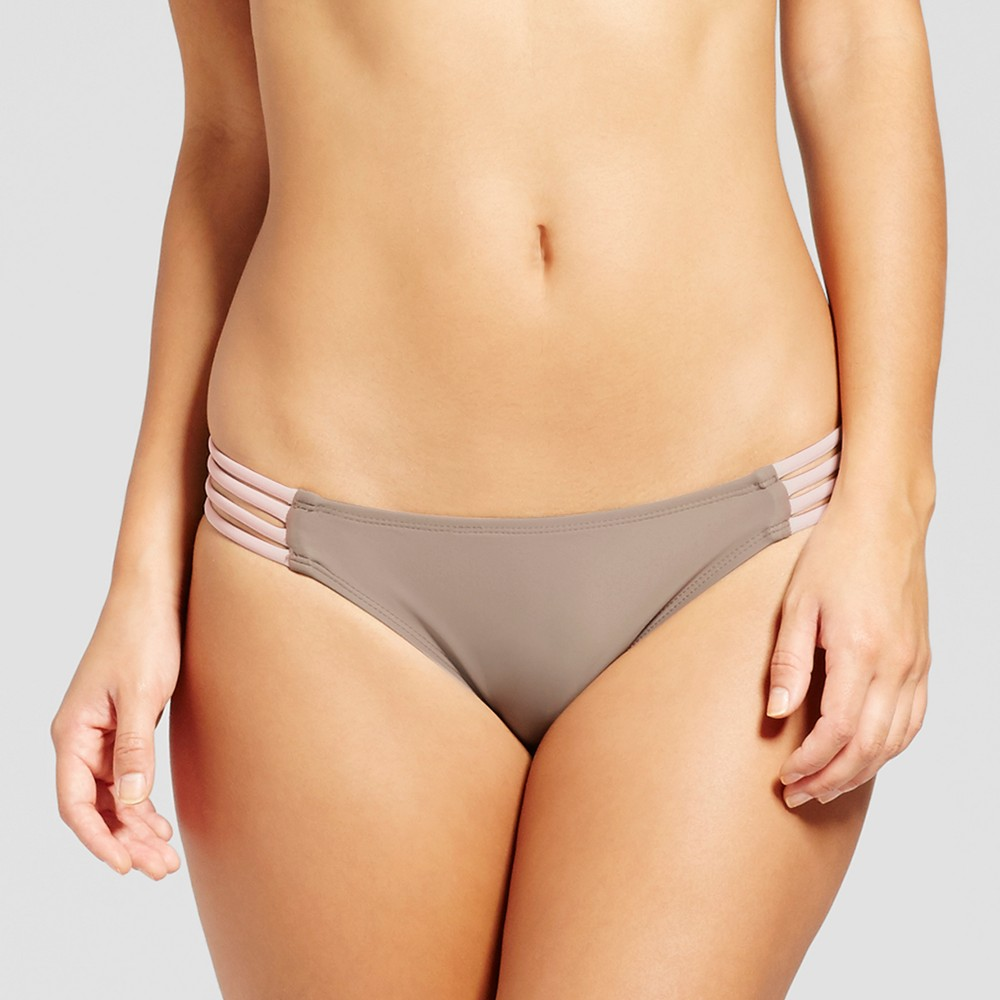 Womens Strappy Bikini Bottom - Xhilaration Champagne L, Yellow