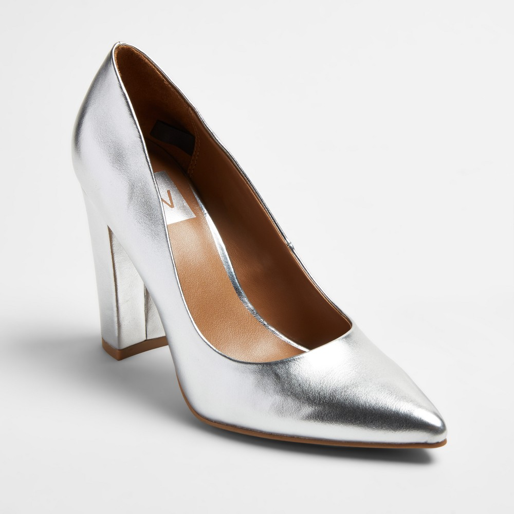Womens dv Brie Block Heel Pumps - Silver 6.5