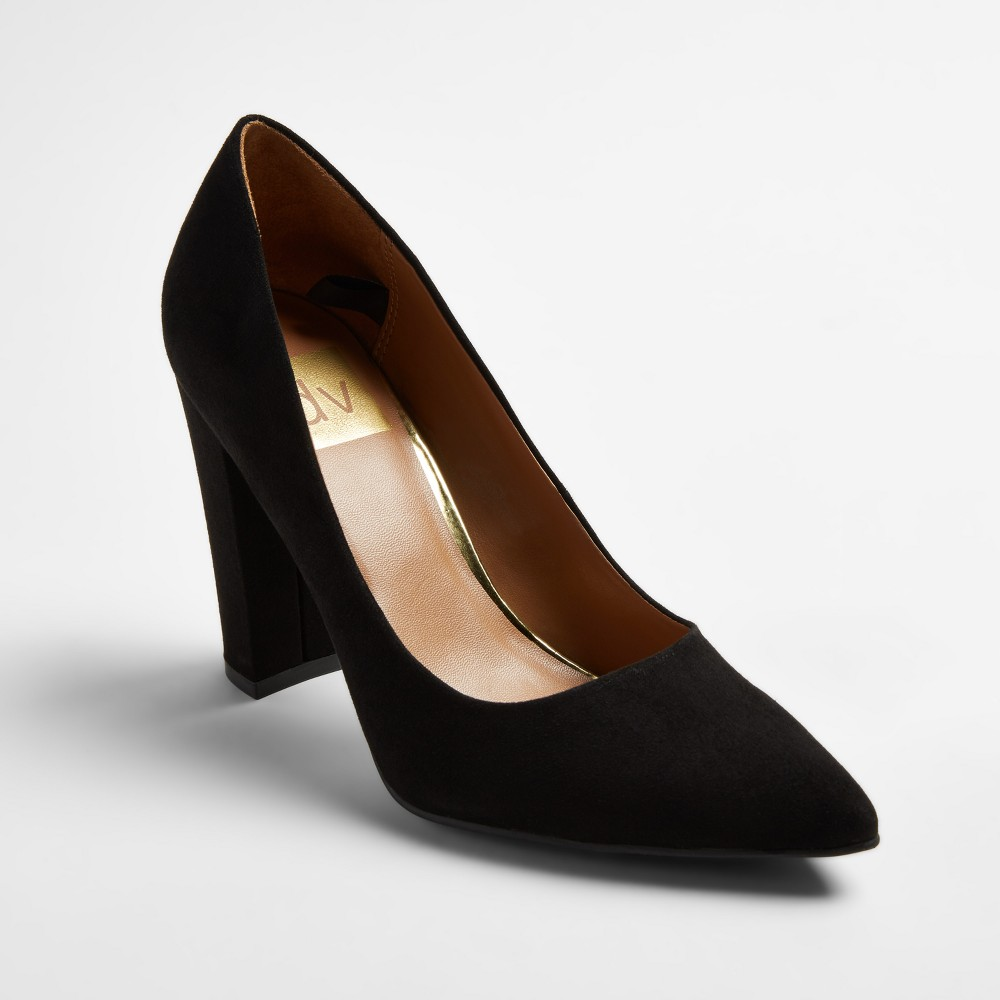 Womens dv Brie Block Heel Pumps - Black 7