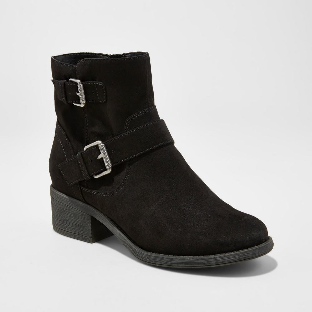 Womens dv Elmira Wide Width Moto Boots - Black 6