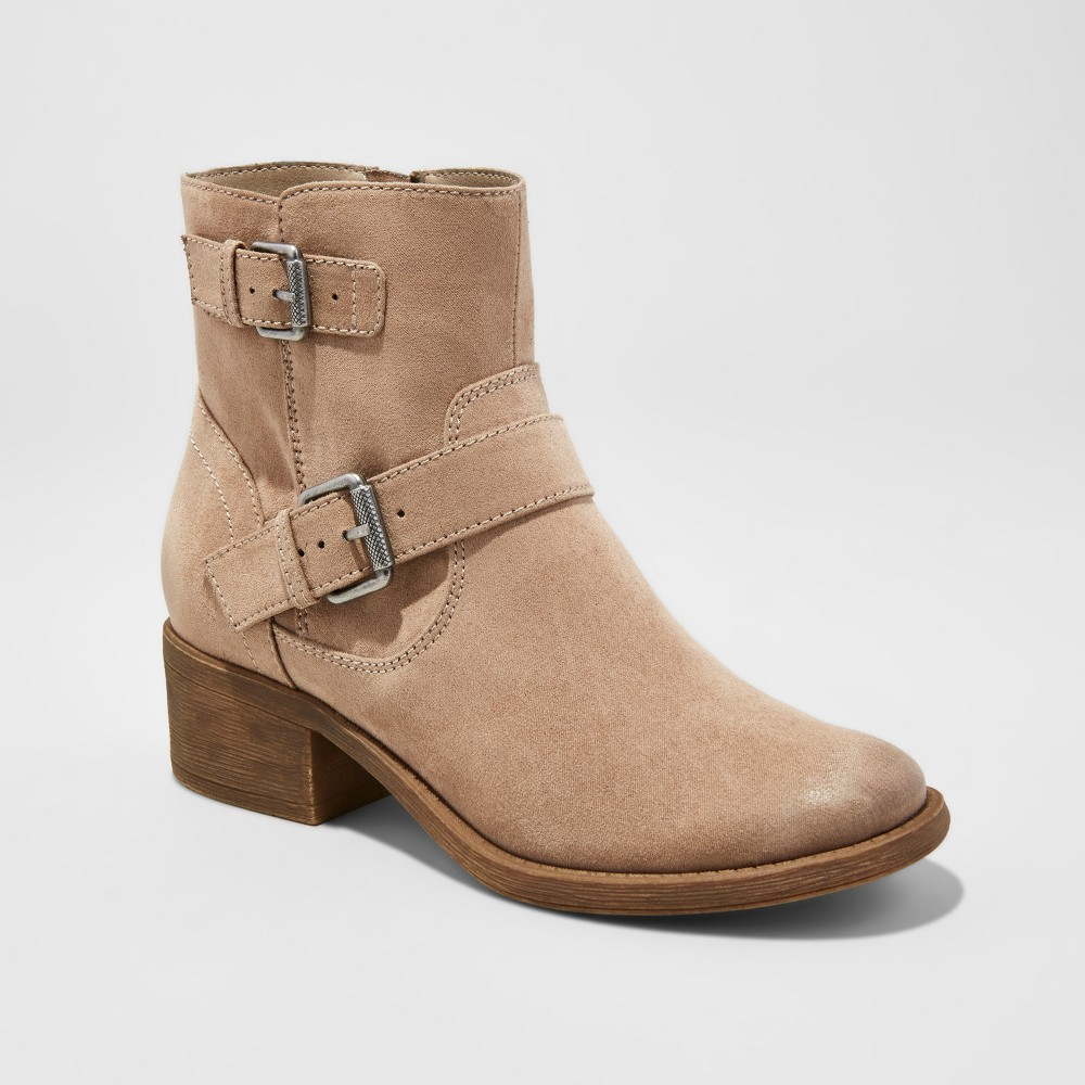 Womens dv Elmira Moto Boots - Taupe (Brown) 6.5