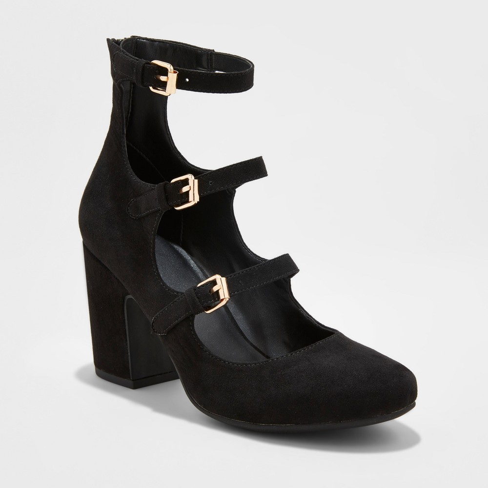 Womens Heavenly Mary Jane Heel Pumps - A New Day Black 5.5