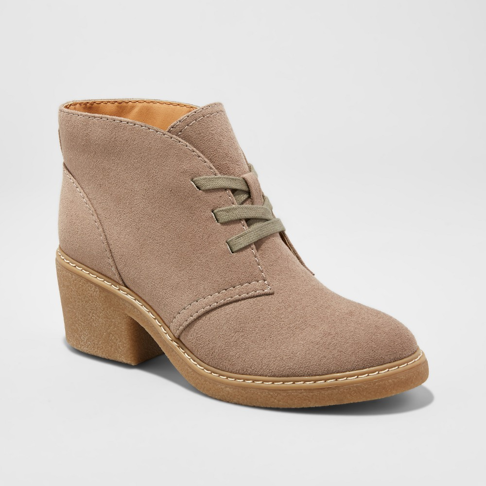 Womens Lucia Lace-Up Shooties - Merona Taupe (Brown) 7.5