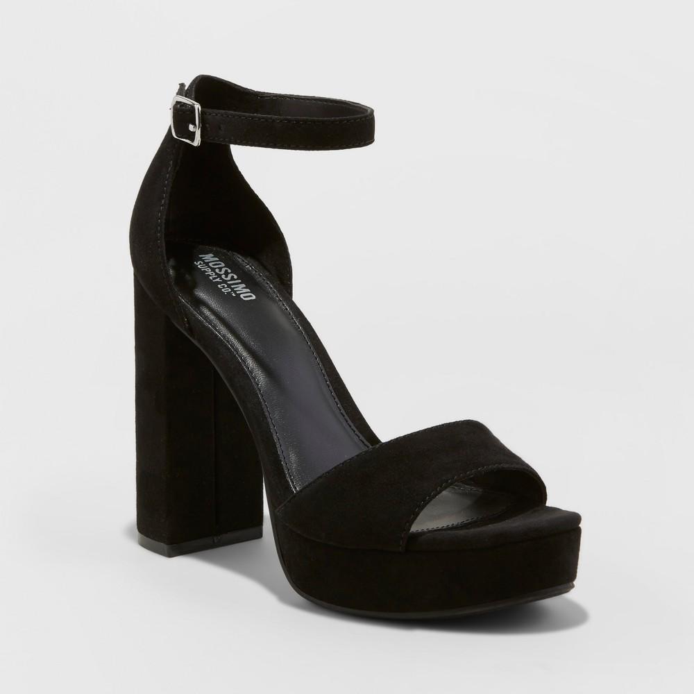 Womens Fabiola Platform Heel Pumps - Mossimo Supply Co. Black 7.5