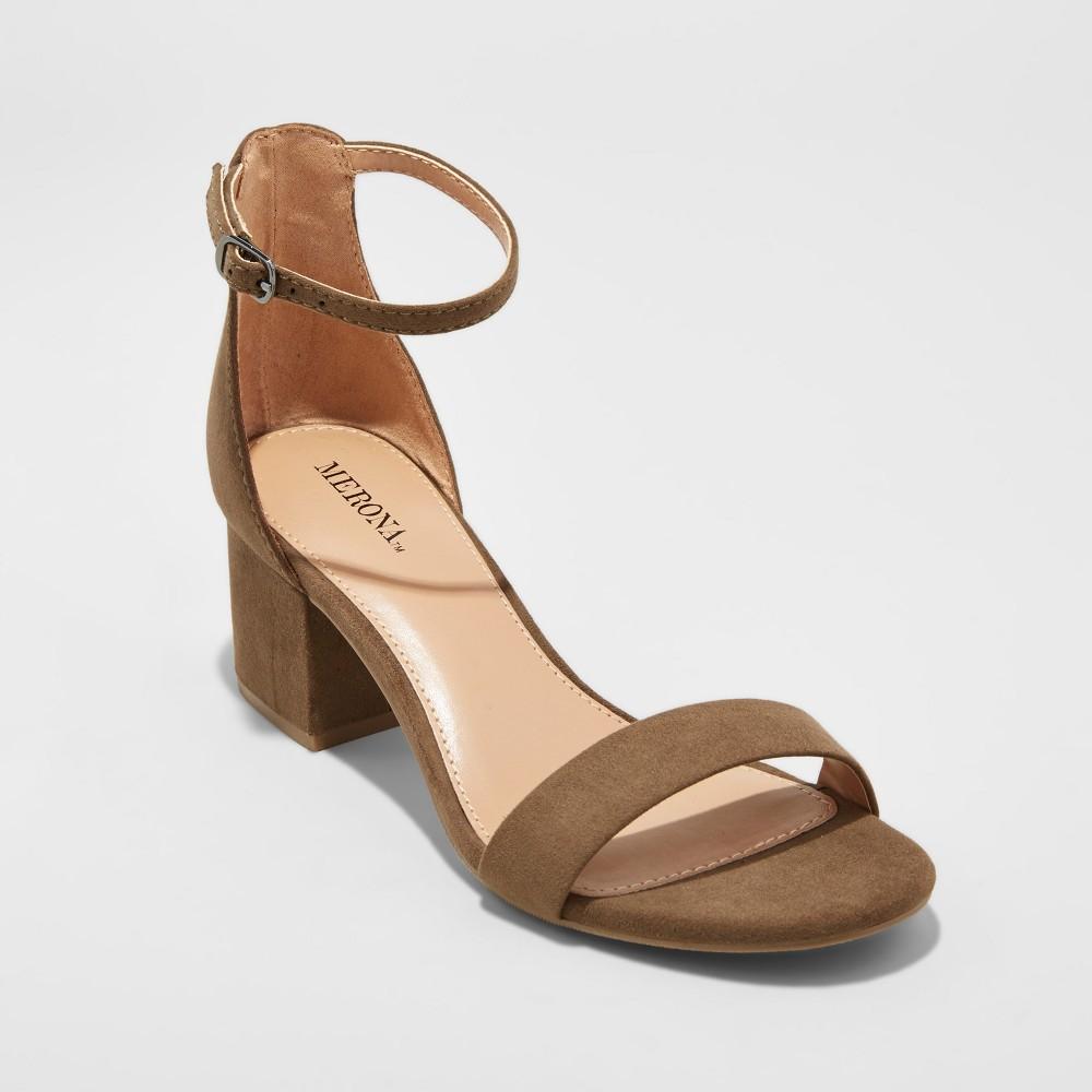 Womens Marcella Block Heel Sandal Pumps - Merona Green 8.5