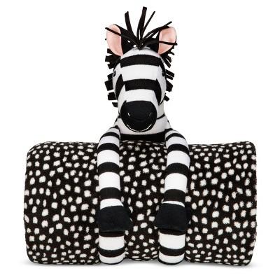 Zebra Throw & Pillow Buddy - Pillowfort™